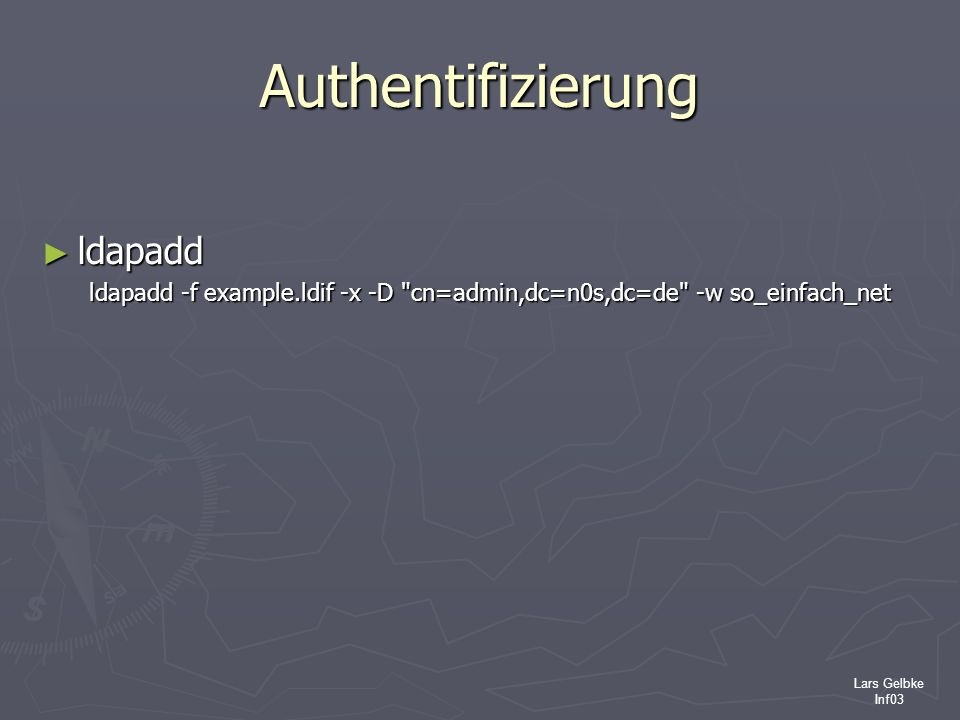 Authentifizierung ldapadd