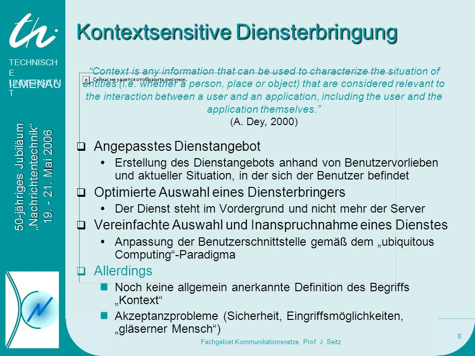 Kontextsensitive Diensterbringung