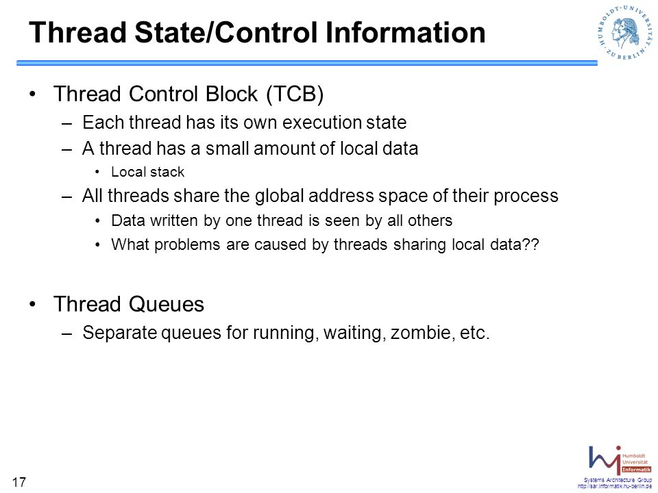 Thread State/Control Information
