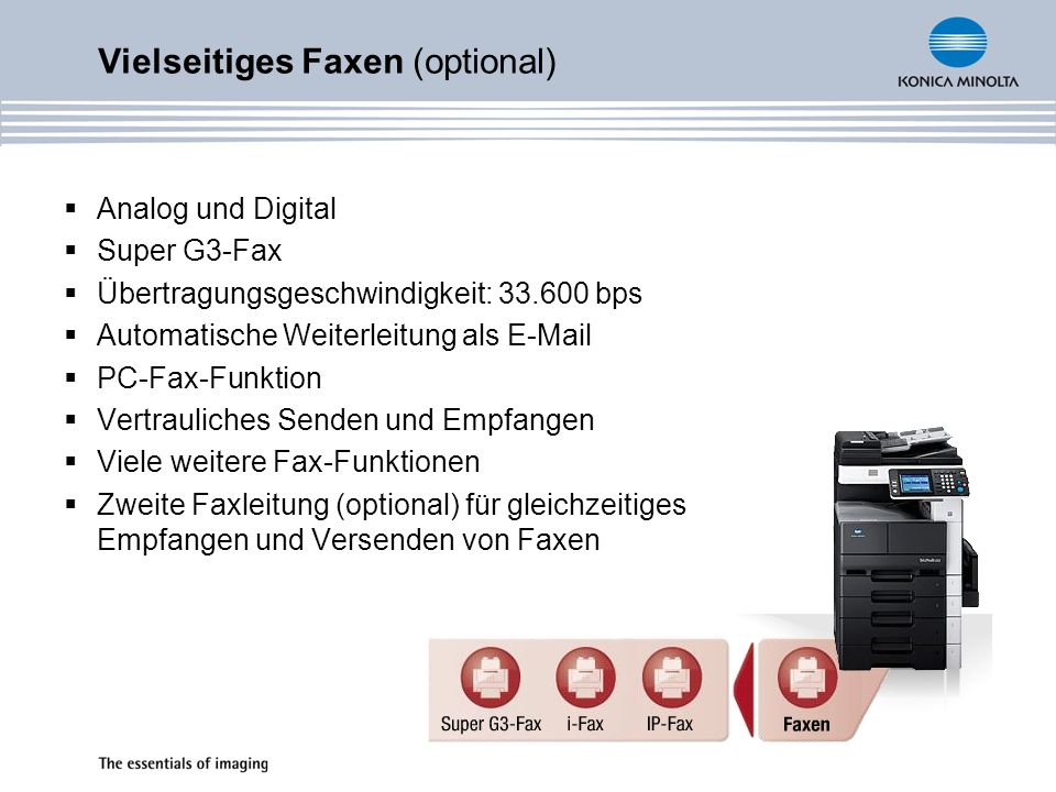 Vielseitiges Faxen (optional)