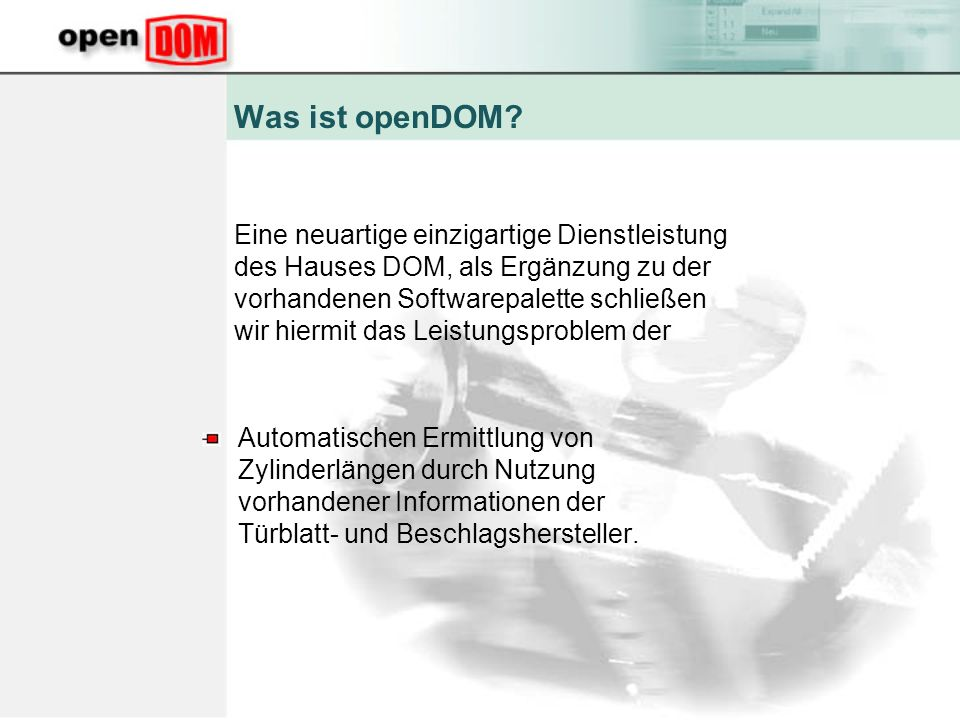 Was ist openDOM