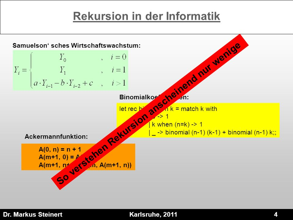 Rekursion in der Informatik