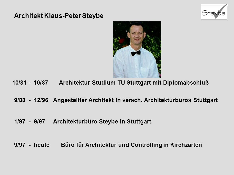 Architekt Klaus-Peter Steybe