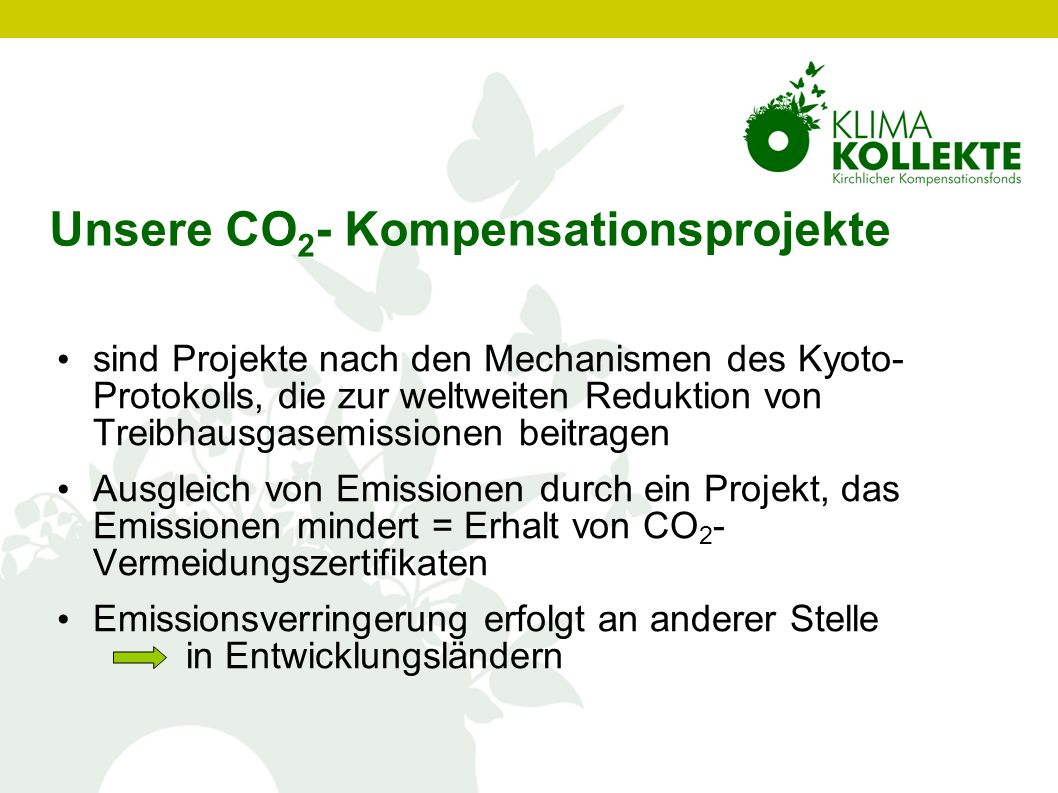 Unsere CO2- Kompensationsprojekte