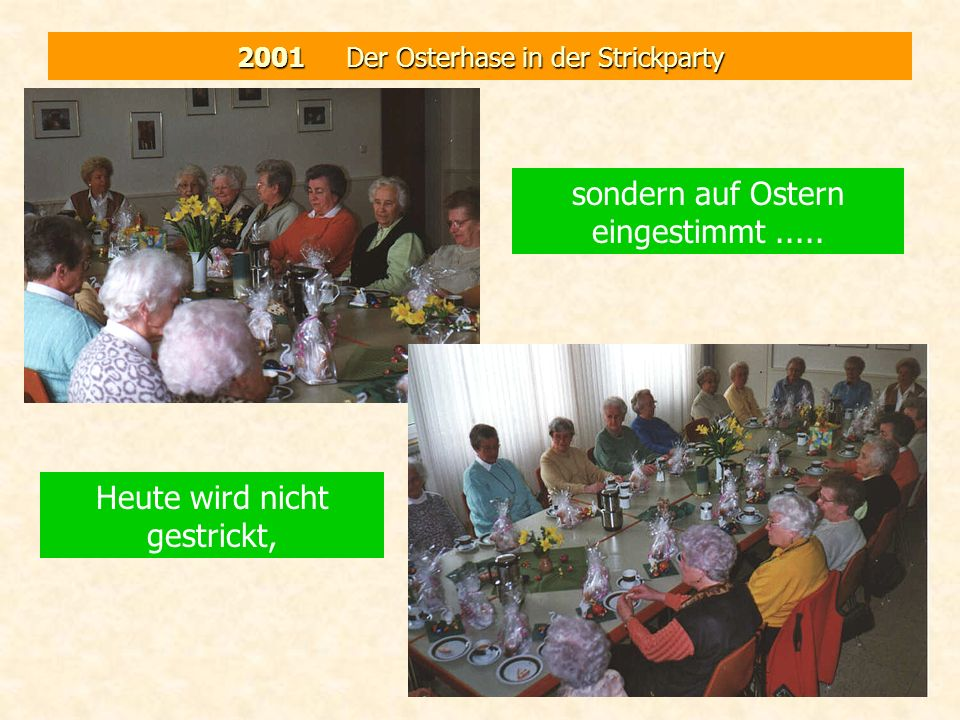 2001 Der Osterhase in der Strickparty