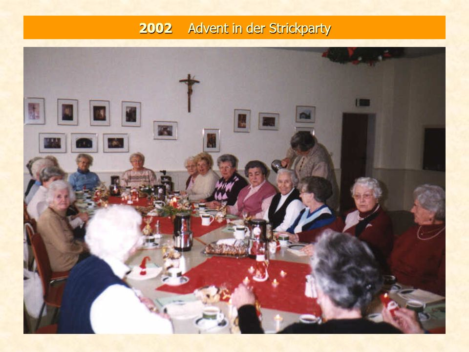 2002 Advent in der Strickparty