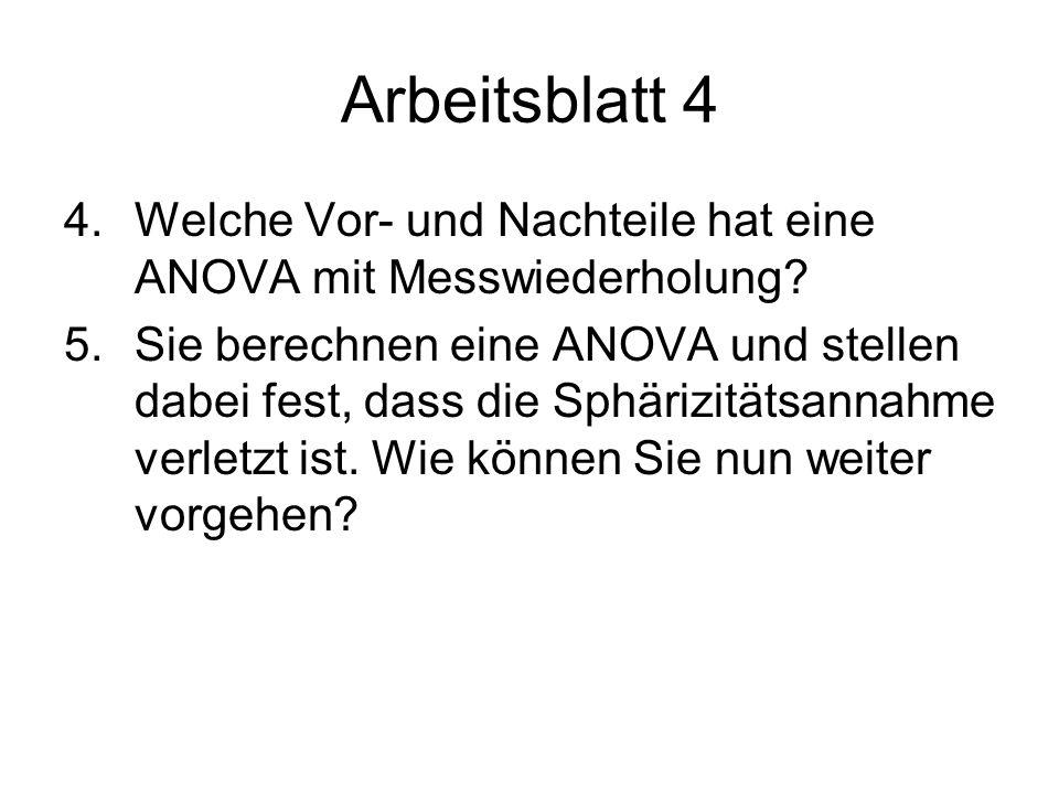 Tutorat Statistik II im SS 09 Zufallseffekte & Messwiederholung ...