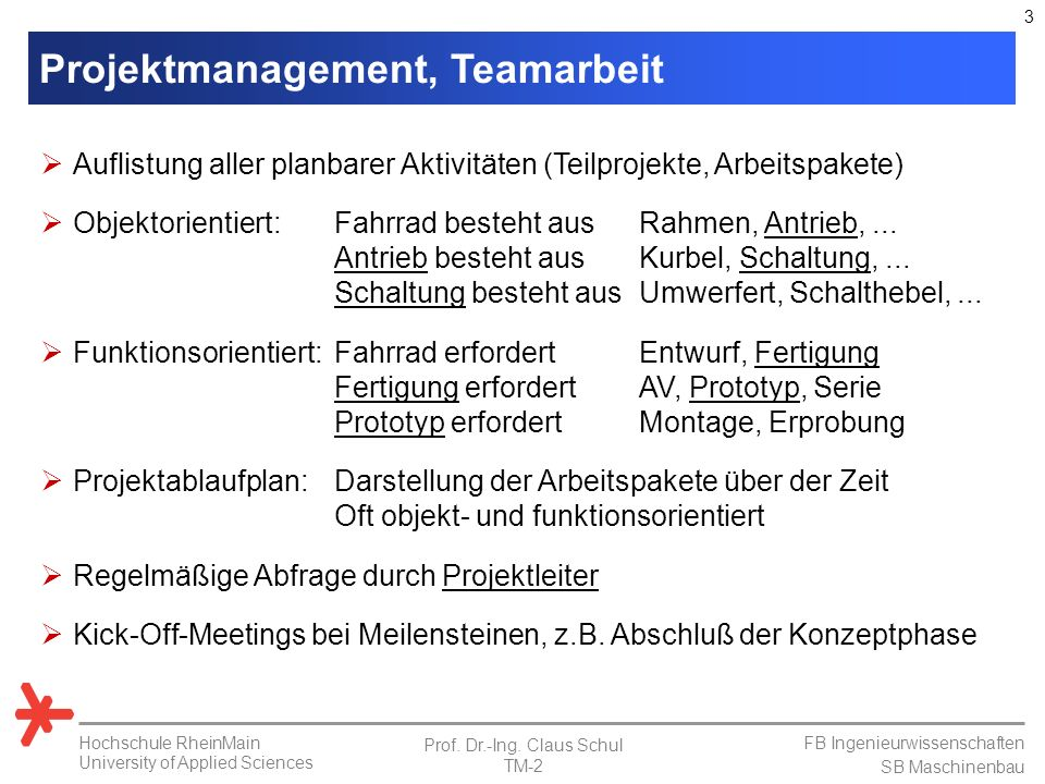 Projektmanagement, Teamarbeit