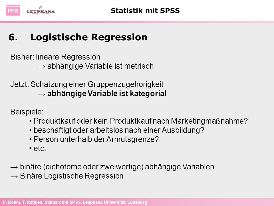 6. Logistische Regression