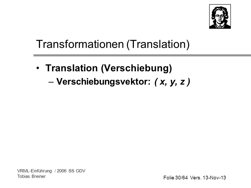 Transformationen (Translation)