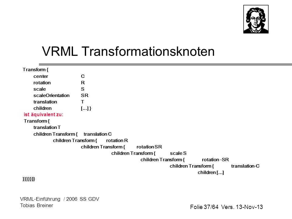 VRML Transformationsknoten