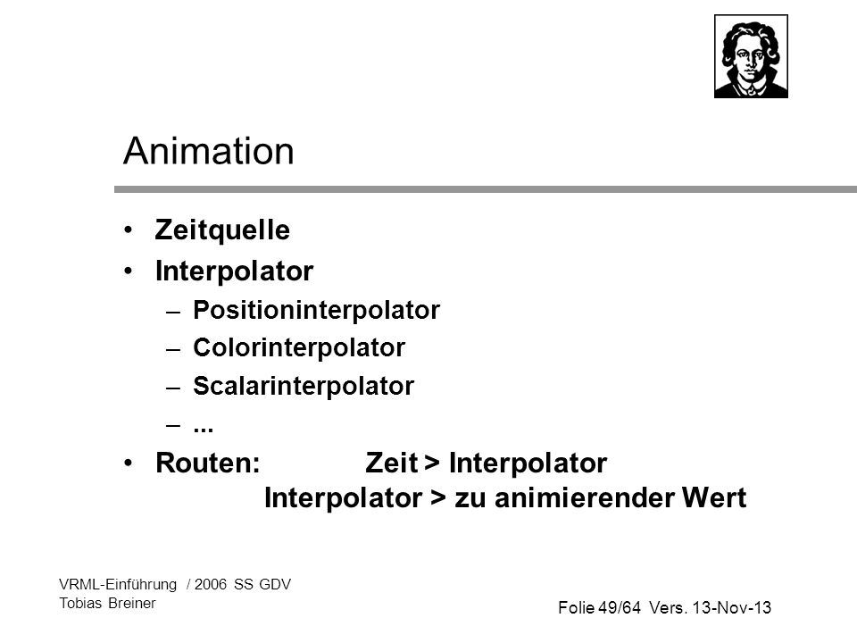 Animation Zeitquelle Interpolator