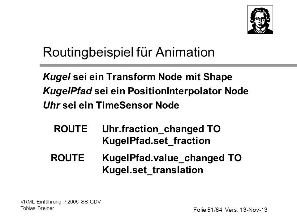 Routingbeispiel für Animation