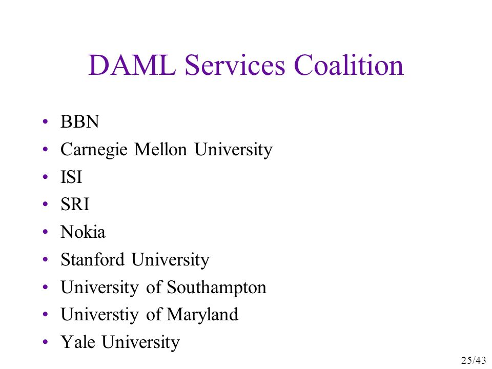 DAML Services Coalition
