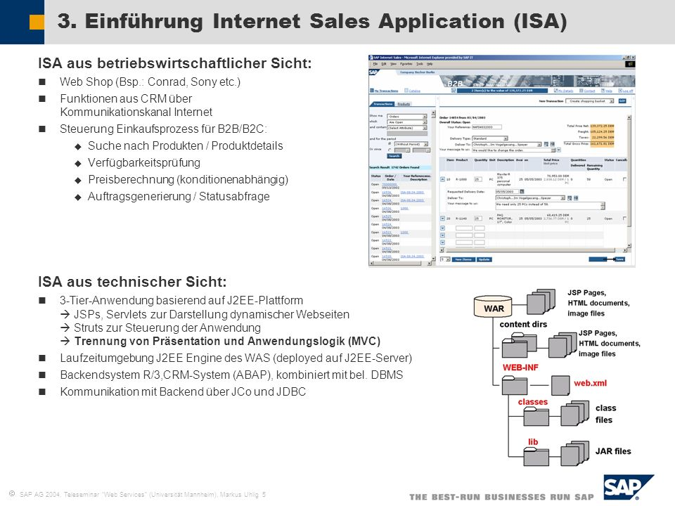 3. Einführung Internet Sales Application (ISA)