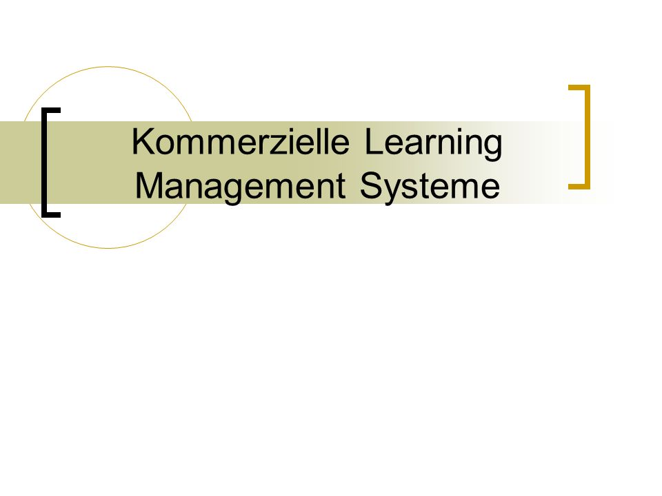 Kommerzielle Learning Management Systeme