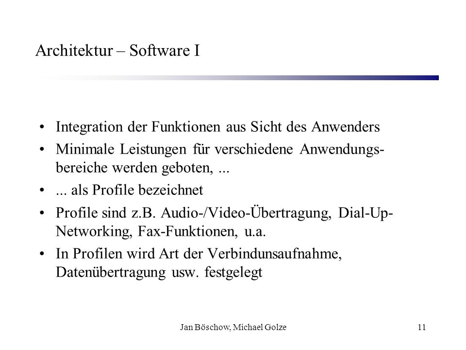 Architektur – Software I