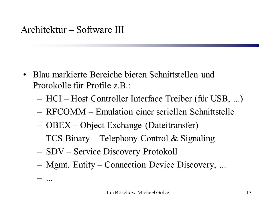 Architektur – Software III