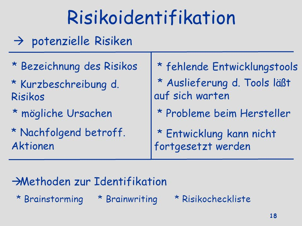 Risikoidentifikation
