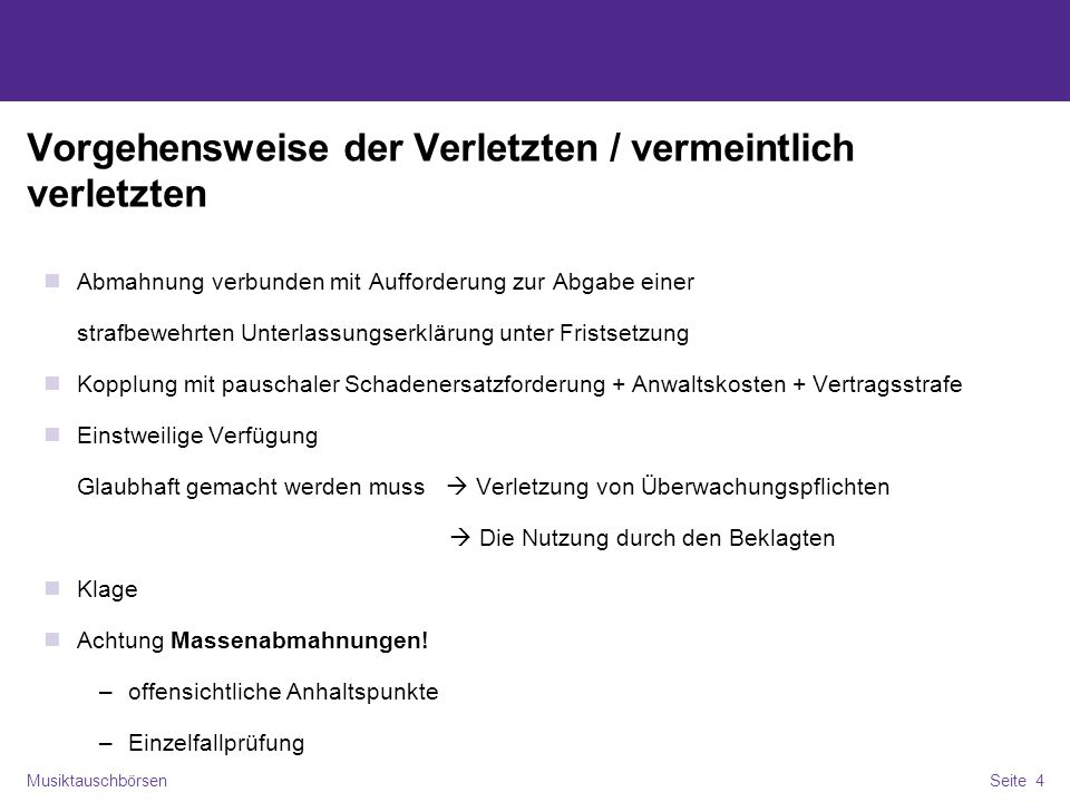 Musiktauschbörsen Illegales Filesharing Im Internet Ppt