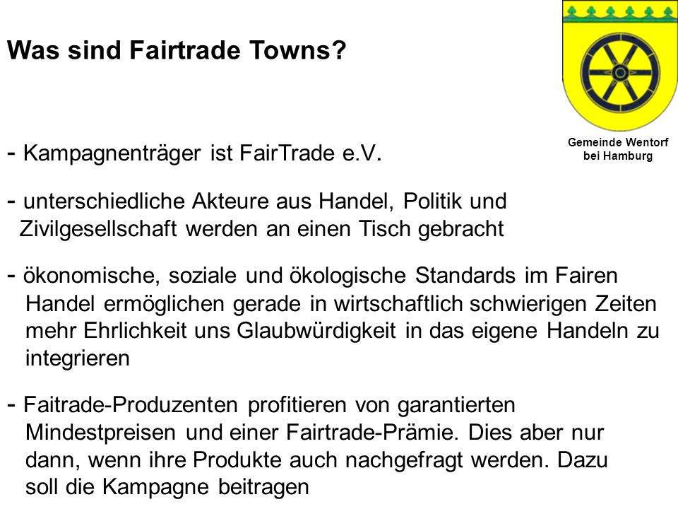Was sind Fairtrade Towns