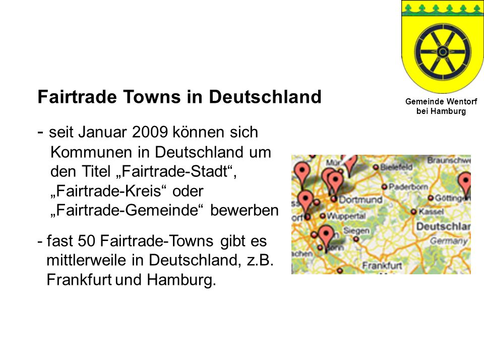 Fairtrade Towns in Deutschland
