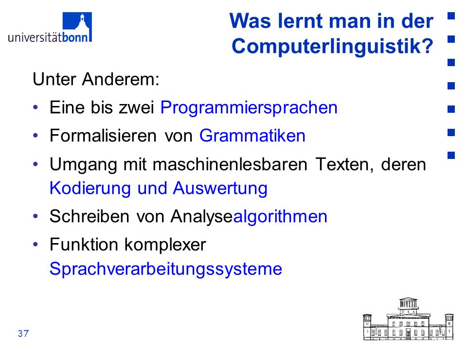 Was lernt man in der Computerlinguistik