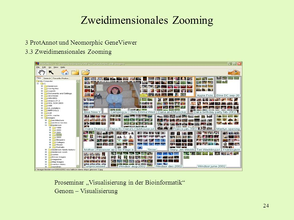Zweidimensionales Zooming