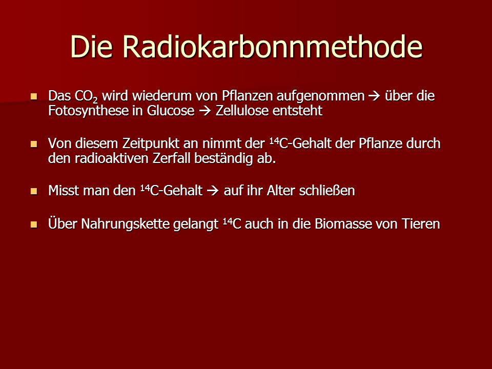Die Radiokarbonnmethode