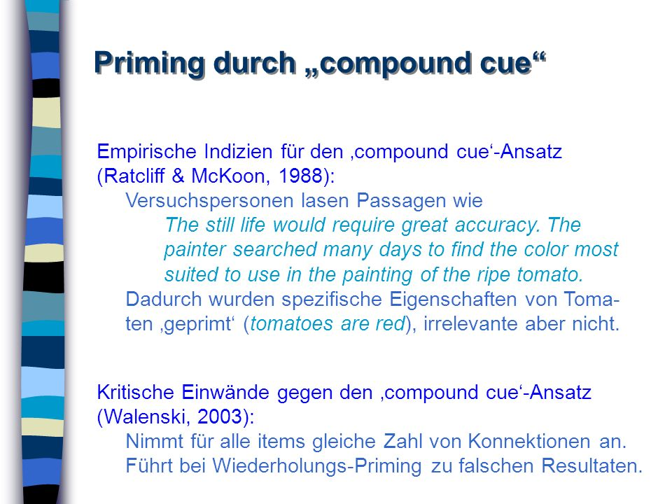 "Priming durch ""compound cue"
