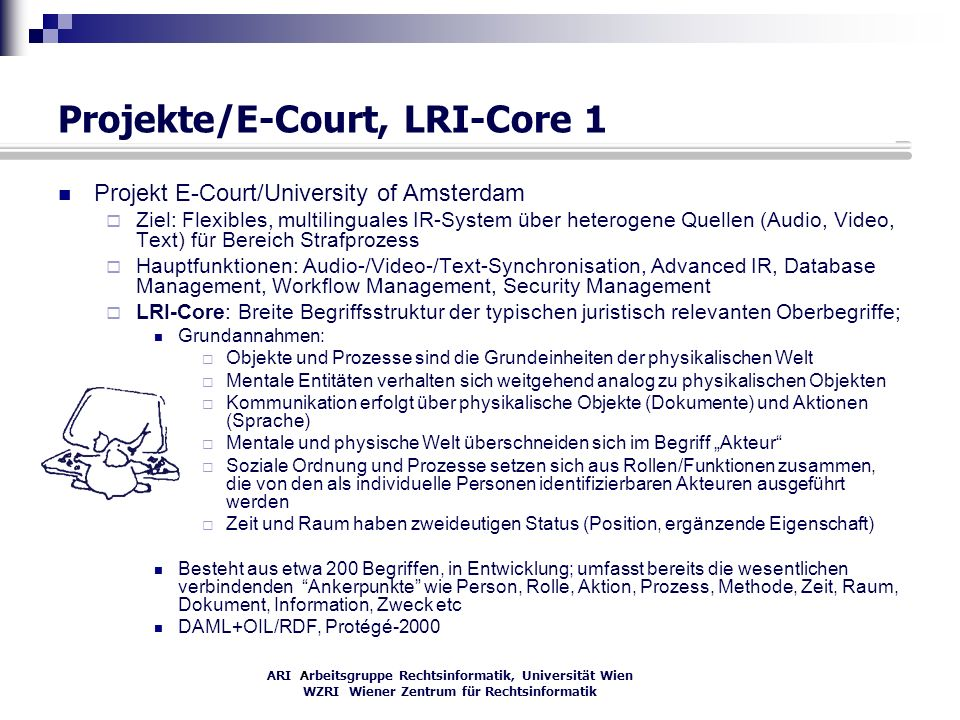 Projekte/E-Court, LRI-Core 1