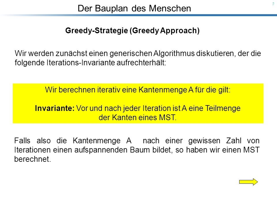 Greedy-Strategie (Greedy Approach)
