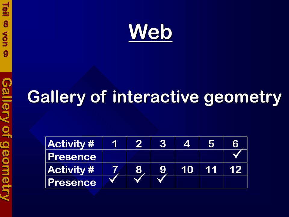     Web Gallery of interactive geometry Gallery of geometry