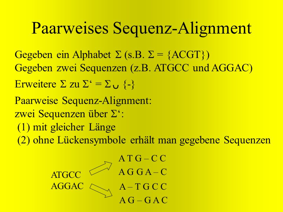 Paarweises Sequenz-Alignment