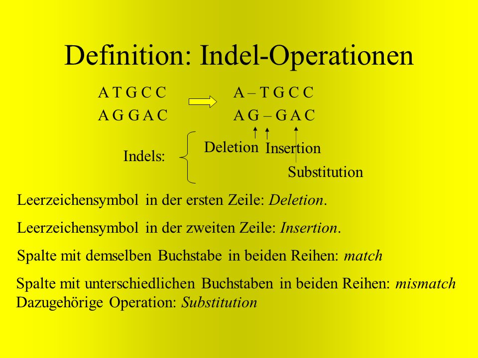 Definition: Indel-Operationen