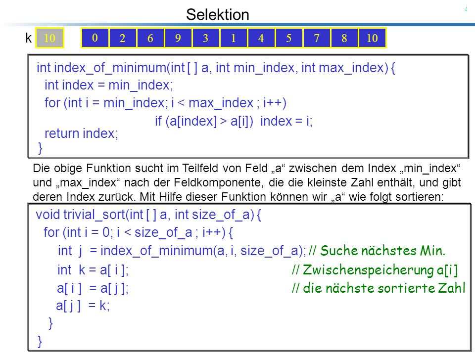 int index_of_minimum(int [ ] a, int min_index, int max_index) {