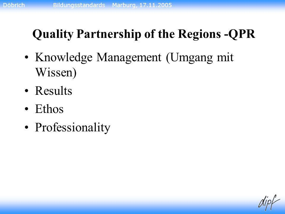 Quality Partnership of the Regions -QPR