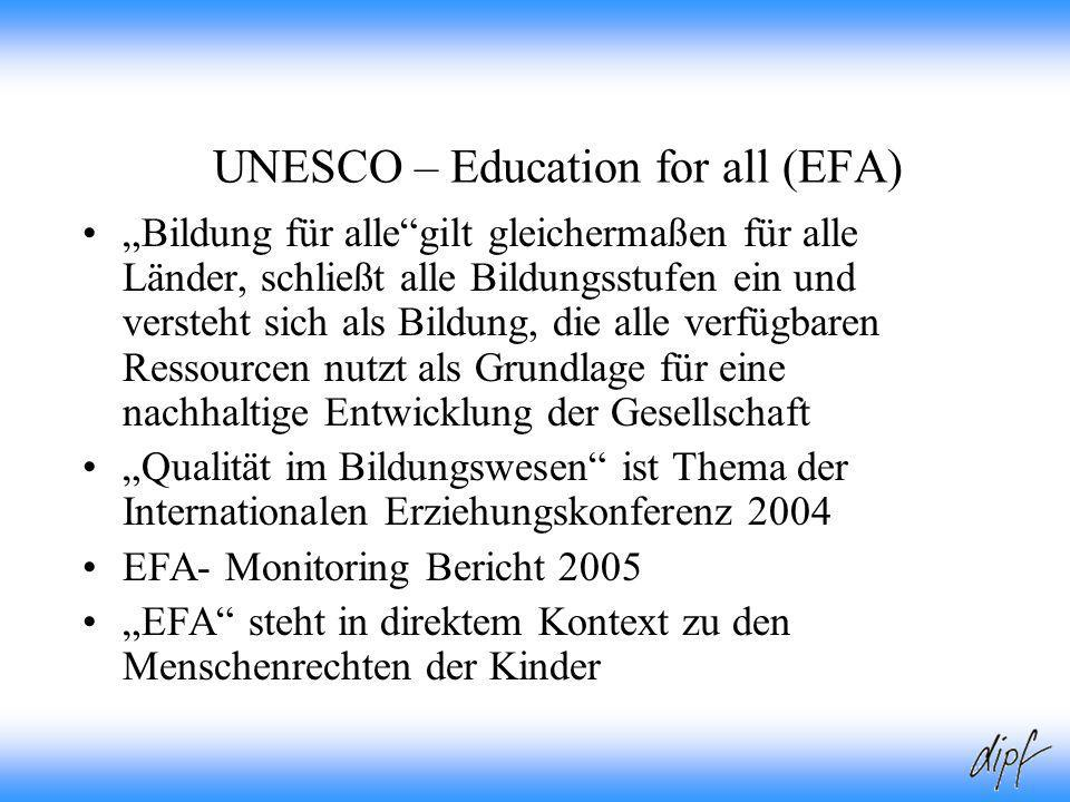 UNESCO – Education for all (EFA)