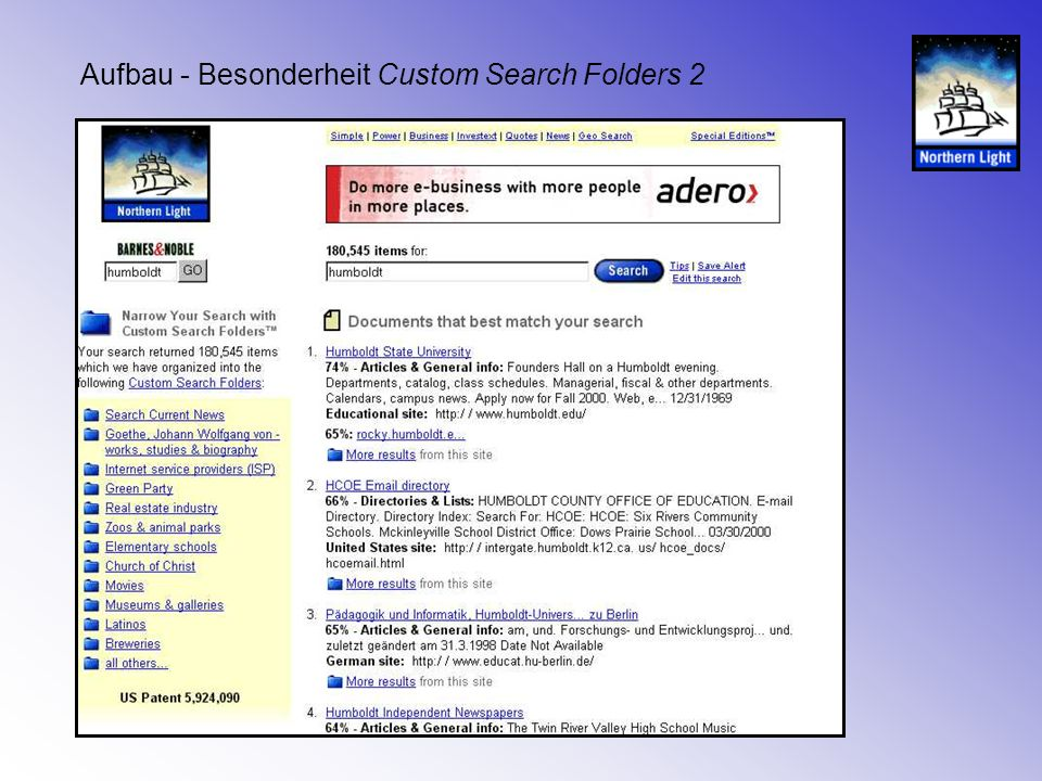 Aufbau - Besonderheit Custom Search Folders 2