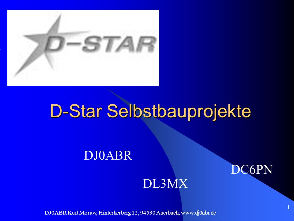 D-Star Selbstbauprojekte