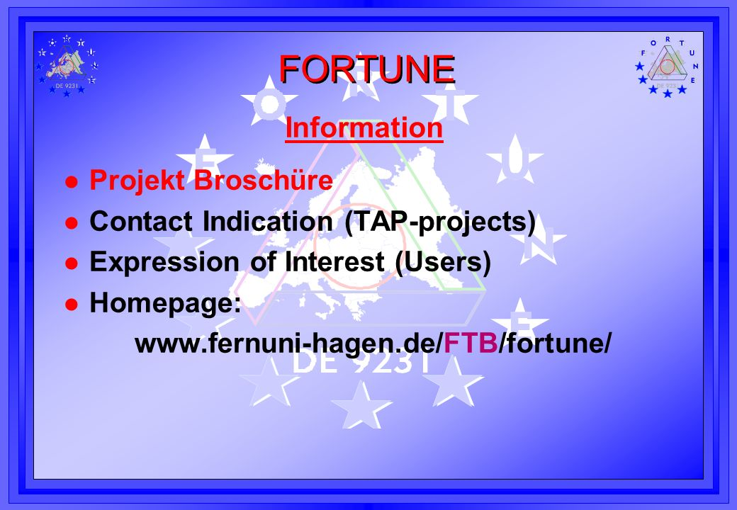 Information Projekt Broschüre Contact Indication (TAP-projects)