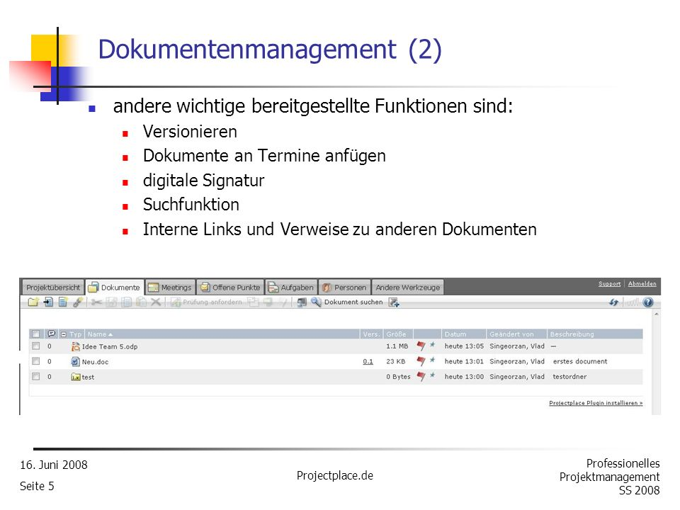 Dokumentenmanagement (2)