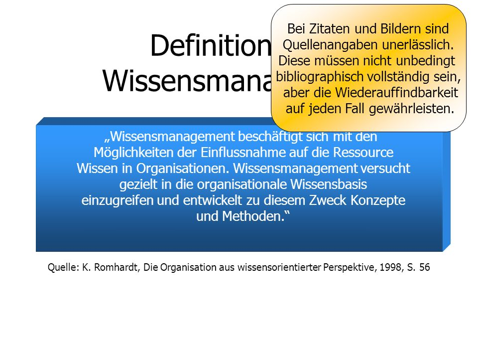 Definition von Wissensmanagement