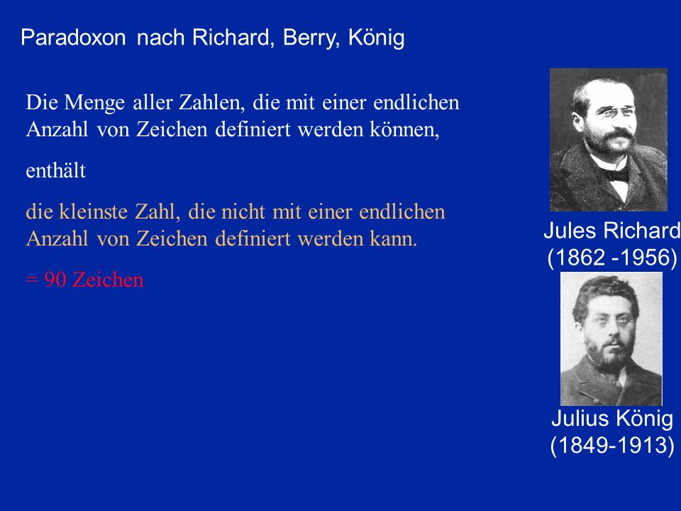 Paradoxon nach Richard, Berry, König