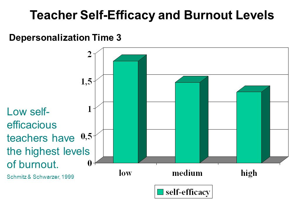 Teacher Self-Efficacy and Burnout Levels