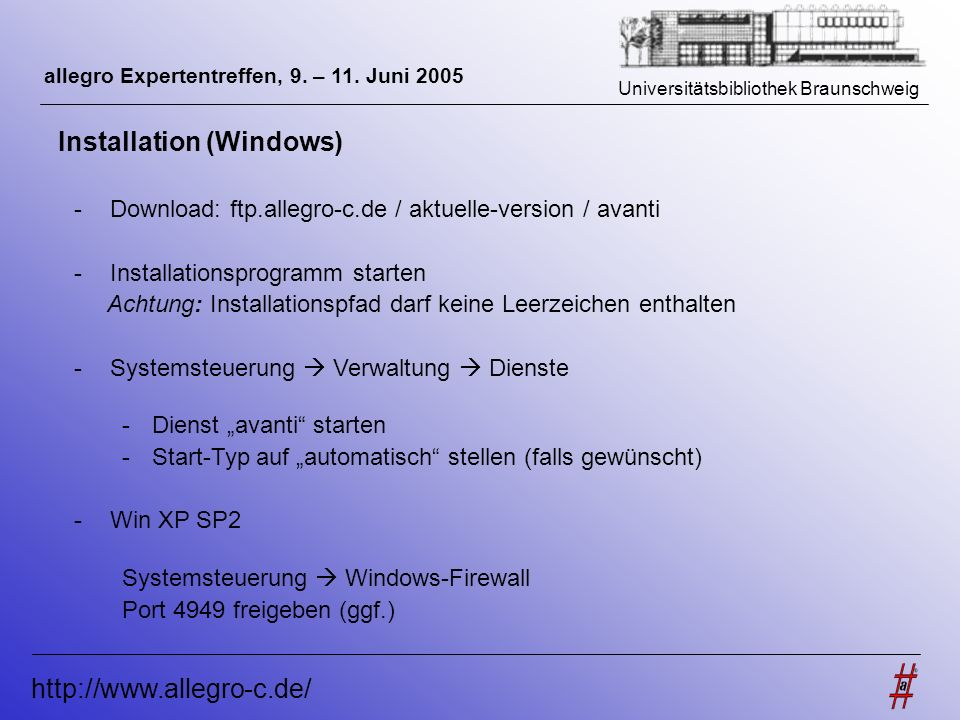 Installation (Windows)