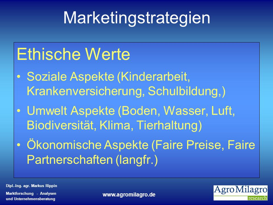 Marketingstrategien Ethische Werte