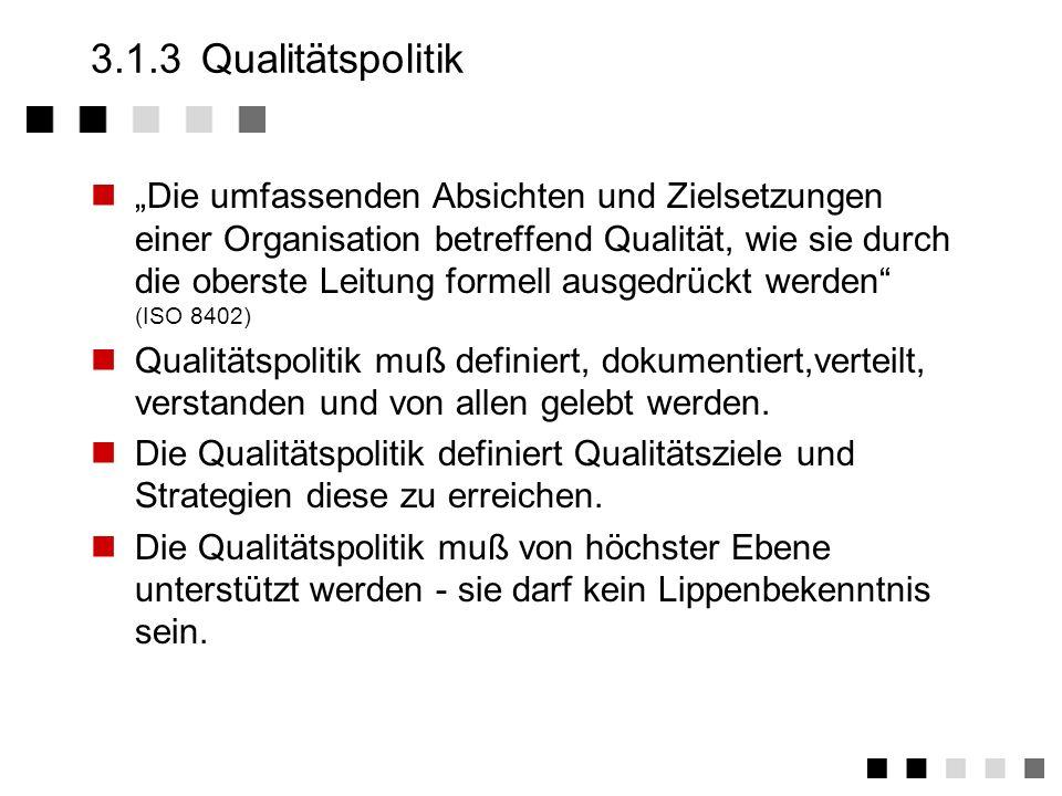 313 qualittspolitik - Qualitatspolitik Beispiel