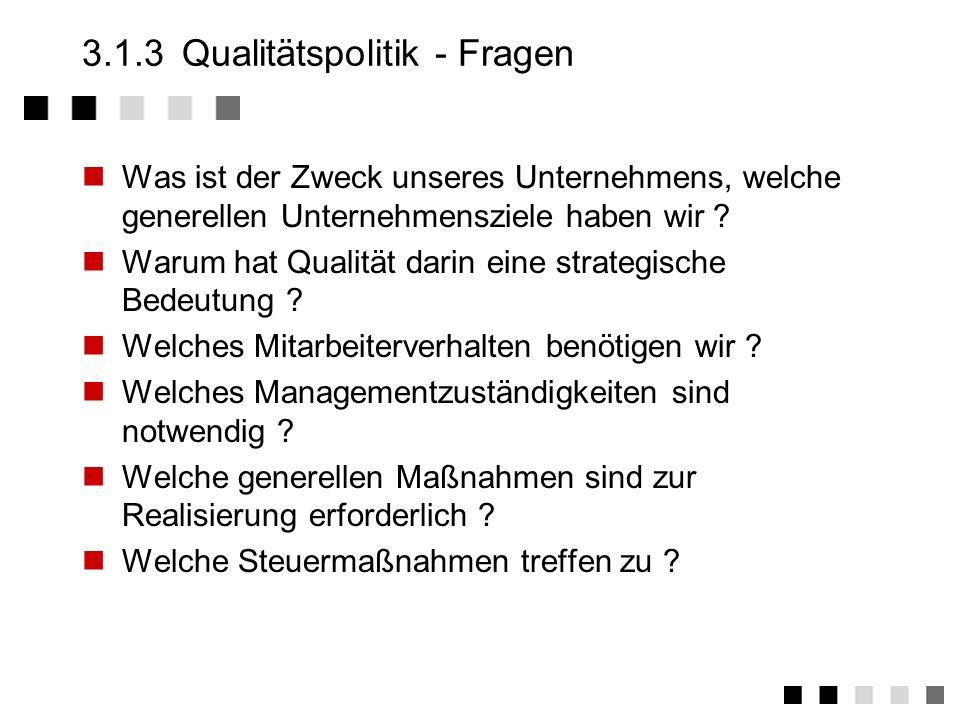 313 qualittspolitik fragen - Qualitatspolitik Beispiel