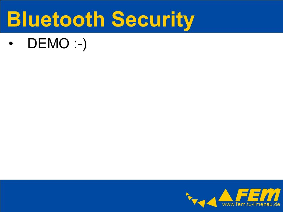 Bluetooth Security DEMO :-)